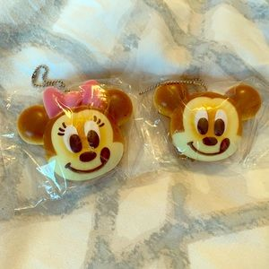 DISNEY MICKEY MINNIE MOUSE KEYCHAINS FROM JAPAN